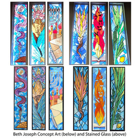 Beth Joseph Stained Glass