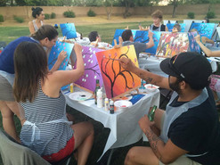 Painting Party for Private Birthday Party