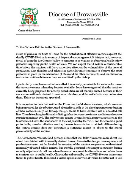 Statement on Moral Concerns about the Cr