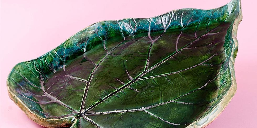 Pottery Leaf Workshop with Heather Cnockaert