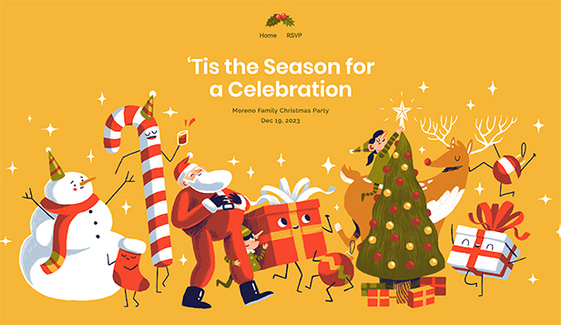 Evenementen website templates – Kerstfeest