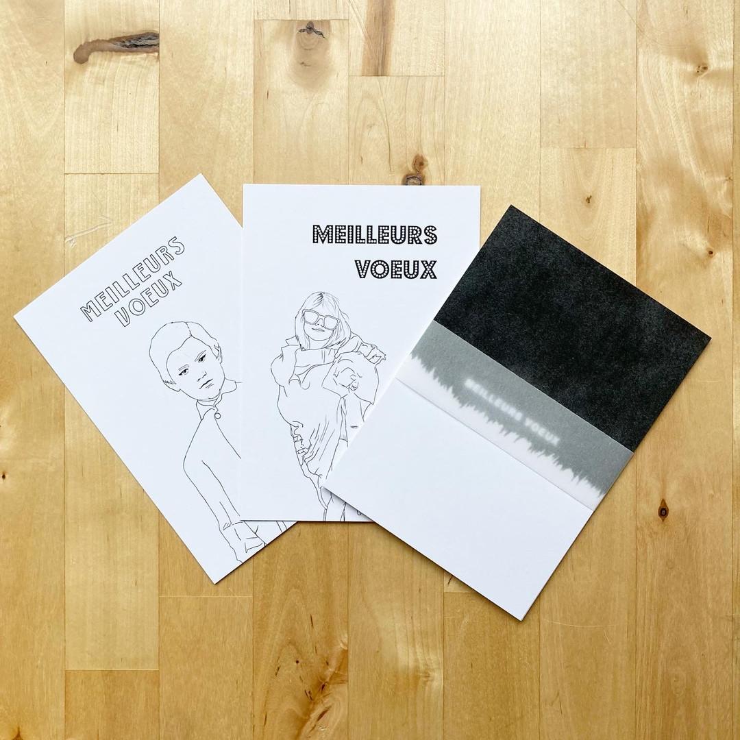 Edition limitée de cartes de voeux à colorier et à envoyer !