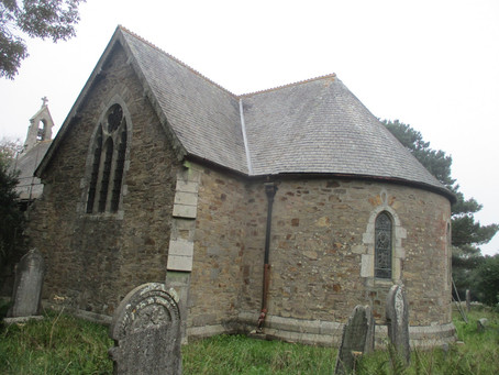 Treleigh - the church which is bypassed.
