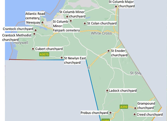 Newquay and north of Truro
