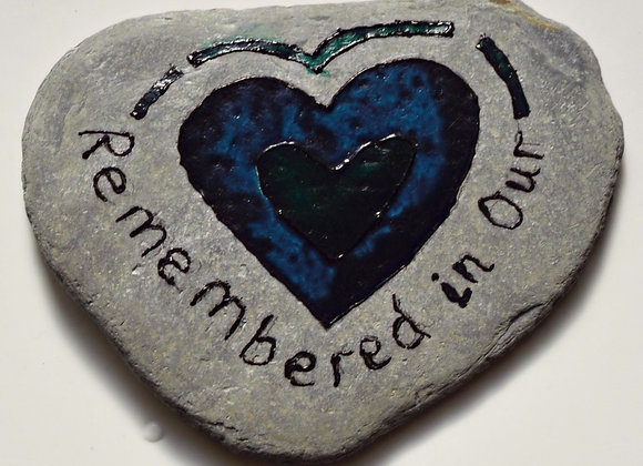 Hand-painted stone - heart