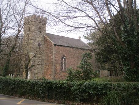 Trevenson church - modernity passes by