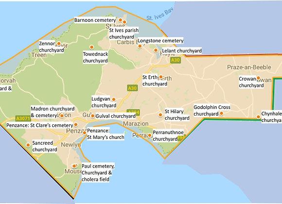 St Ives, Penzance & around