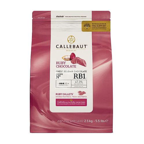 Callebaut Ruby Chocolate Pistoles, 2.5kg