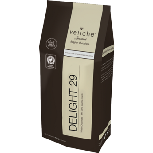 Veliche Belgian White Chocolate, 29%, 5kg