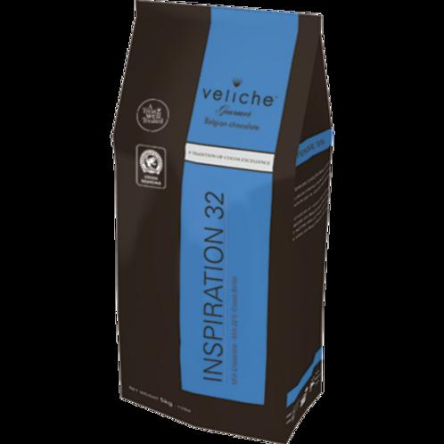 Veliche Belgian Milk Chocolate, 32%, 5kg.