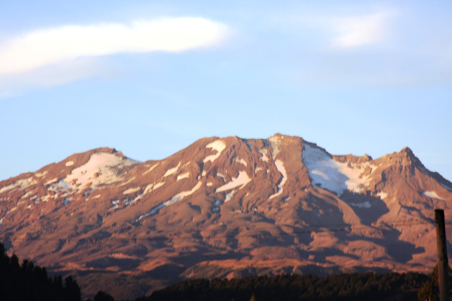 Mt Ruapehu from Station Lodge