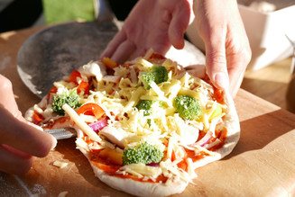 Get a group of friends together and make wood fire pizza's on the outdoor oven, whilst taking in the views of Mt Ruapehu