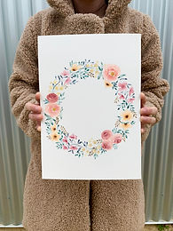 Floral Wreath in Watercolour