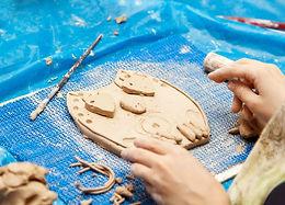 Owls in Raku Clay