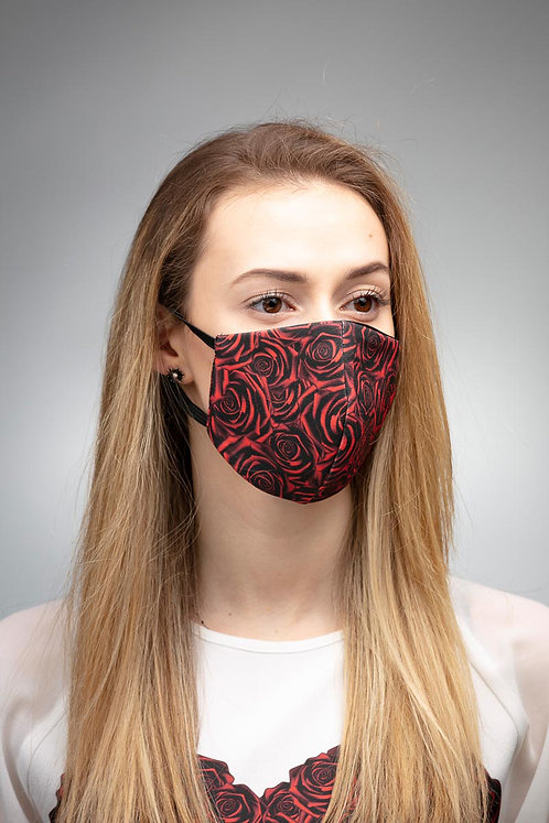 Maska trzywarstwowa Bawełna + Flizelina Dwustronna