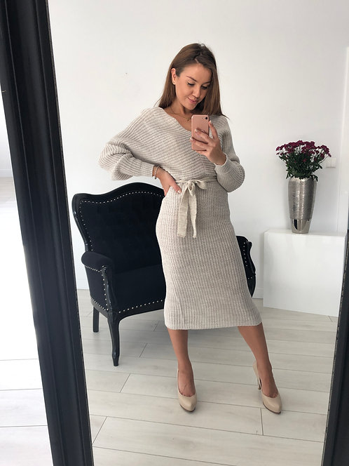 Sukienka Sweterkowa Constance Beige