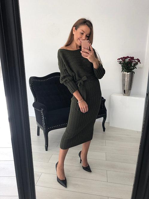 Sukienka sweterkowa Key Olive
