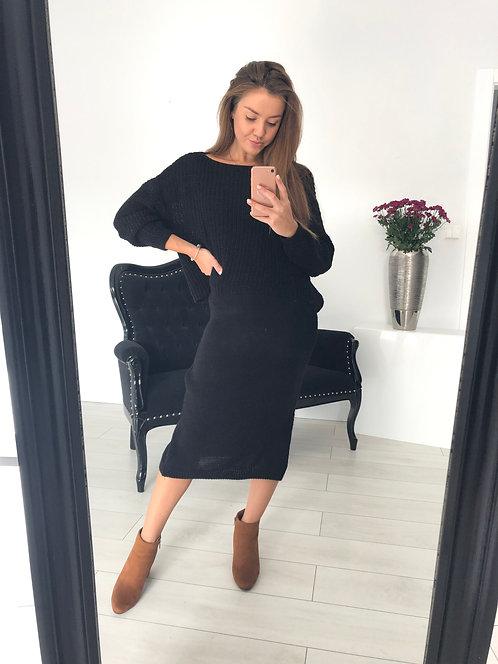 Sukienka sweterkowa Demi Black