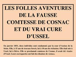 Les folles aventures de la fausse comtesse de Cosnac et du vrai curé d'Ussel