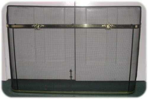 Spark Guard with Polished Brass Hardware