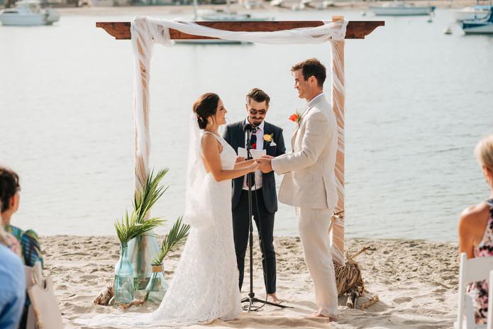 Mission Beach rowing club wedding