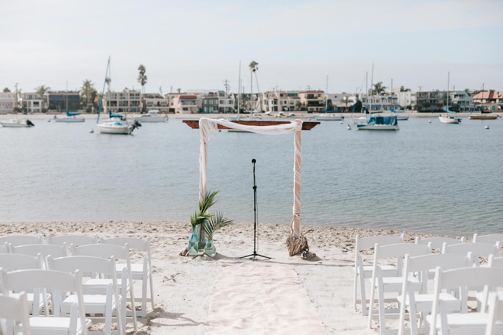 Mission beach rowing club wedding photos