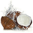 fresh coconut and juice