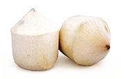 young coconut pieces