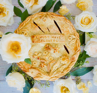 Double Crust Raspberry Cherry Almond Pie with Decorative Crust