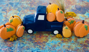 Pumpkin Shaped Macarons