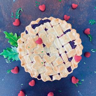 Raspberry Pie with Decorative Crust