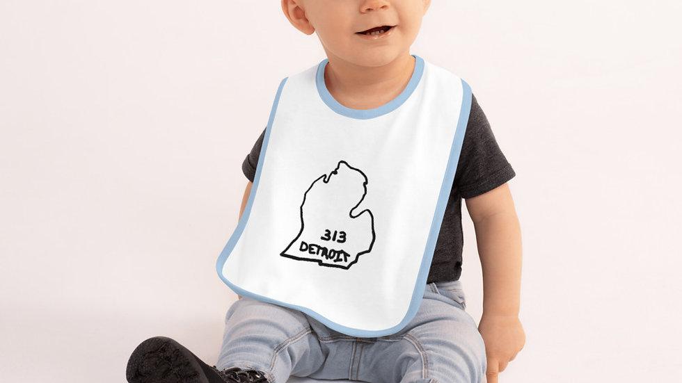 Mitten 313---Embroidered Baby Bib