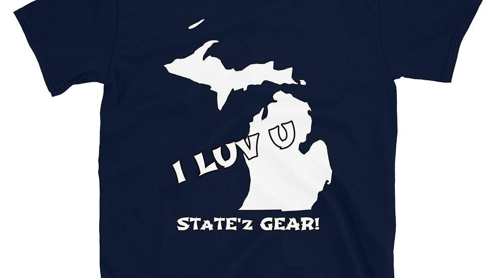 I LUV U---Short-Sleeve Unisex T-Shirt