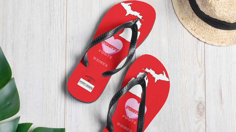 Flip-Flops by Pretty Footz Dzinez