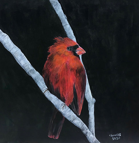 Bird Thoughts - 12x12 (SOLD)