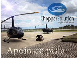 Helicópteros e apoio de pista na Chopper