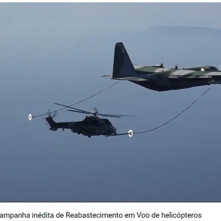 Reabastecimento de Helicóptero em Voo.