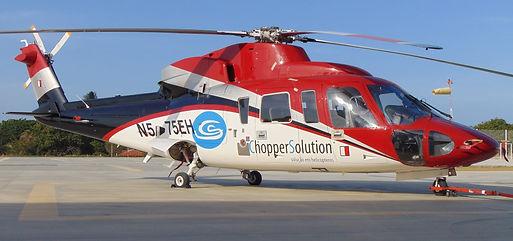 Táxi aéreo de helicópteros.