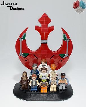 LEGO Star Wars Rebel Alliance minifigures display stand MOC