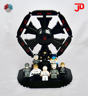 LEGO Star Wars Imperial Minifigures display stand MOC