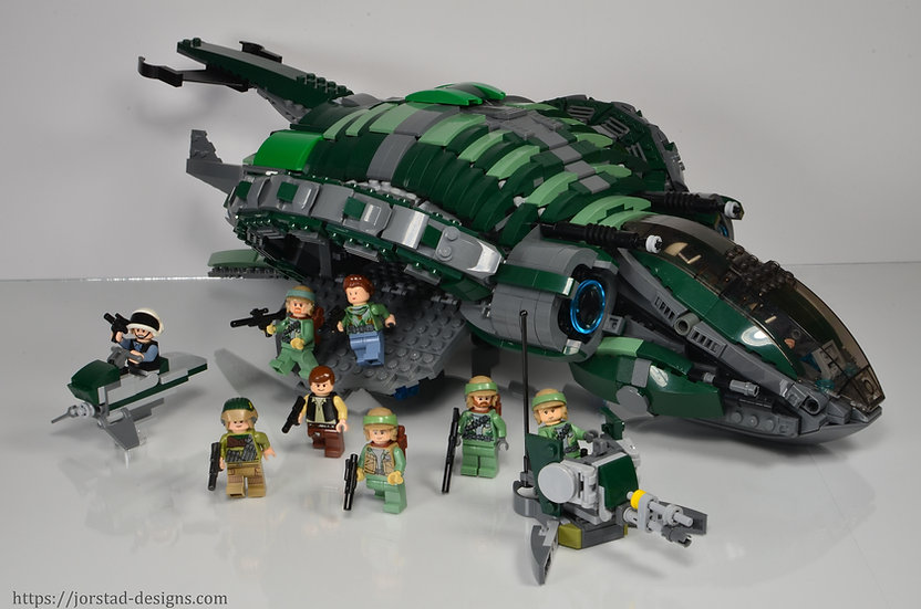 Instructions: Phantom-class Assault Gunship, Green