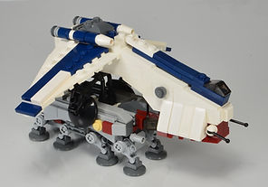 Miniature Lego Star Wars LAAT/c Dropship with AT-OT