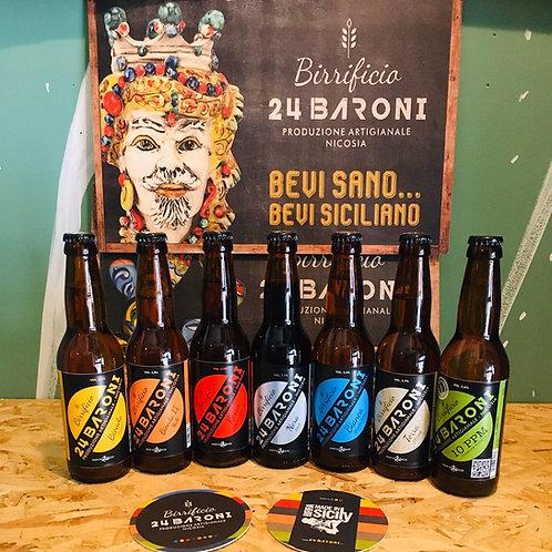 N°7 bottiglie birre baroni