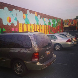 Art is Vantastic!  Harrisburg mural, new mural in the back just finished this week, and my van that