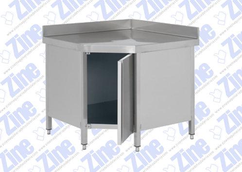Mesas de ángulo con puerta medidas 700 x 700 x 850