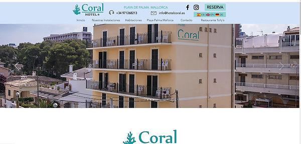 Diseño página web hotel coral mallorca