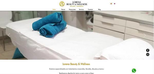 Diseño página web cenro de estetica y be