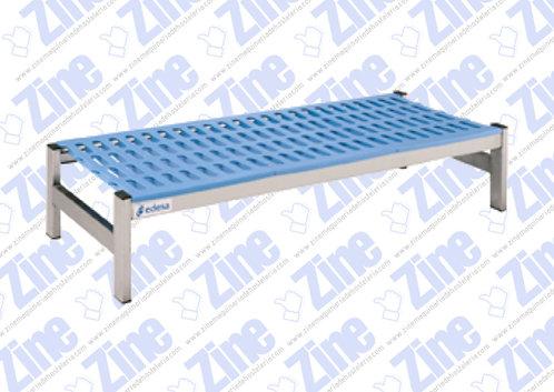 Estanterías de aluminio y polietileno medidas 1685 x 500 x 250