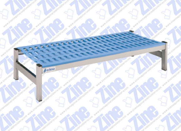 Estanterías de aluminio y polietileno Bancadas medidas 1285 x 500 x 250