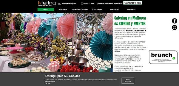Diseño página web empresa de catering en